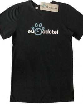 Camiseta Eu Adotei - Masculino - Gola V