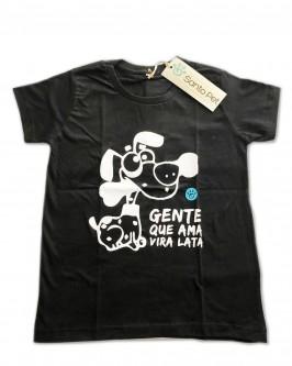 Camiseta Gente que Ama Vira Lata - unissex
