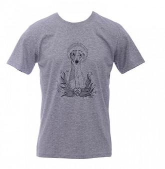 Camiseta - Cachorro - Unissex - Cinza