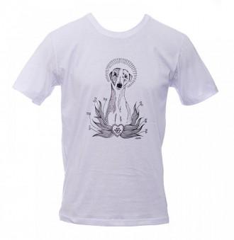Camiseta - Cachorro - Unissex - Branca
