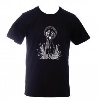 Camiseta - Cachorro - Unissex - Preta