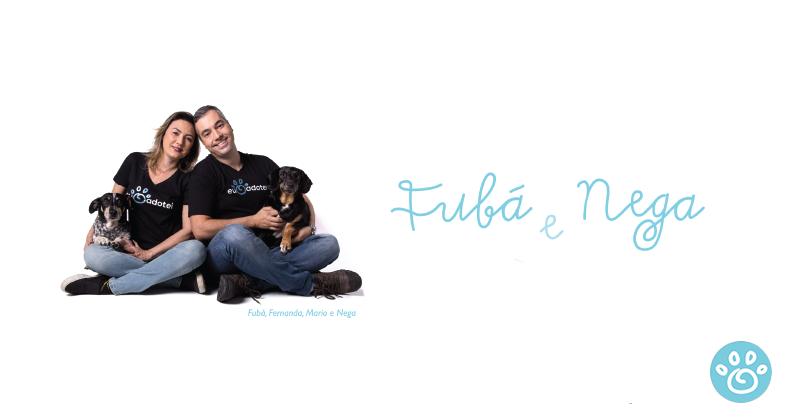 Fubá foi adotado e Nega adotou a família!