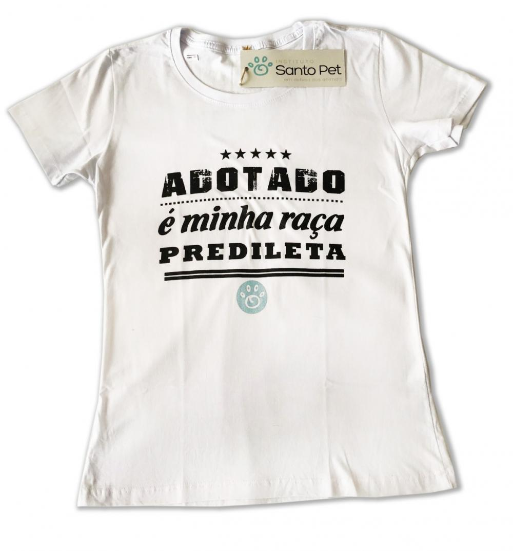 Camiseta Adotado é Minha Raça Predileta - Feminino