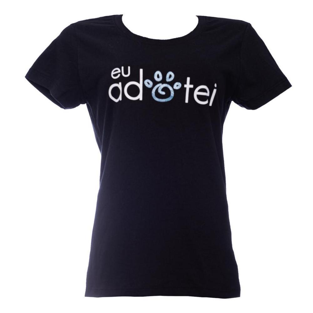 Camiseta - Eu adotei- Feminina Baby Look -